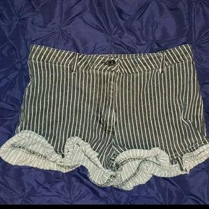 Pinstripe/ steampunk shorts